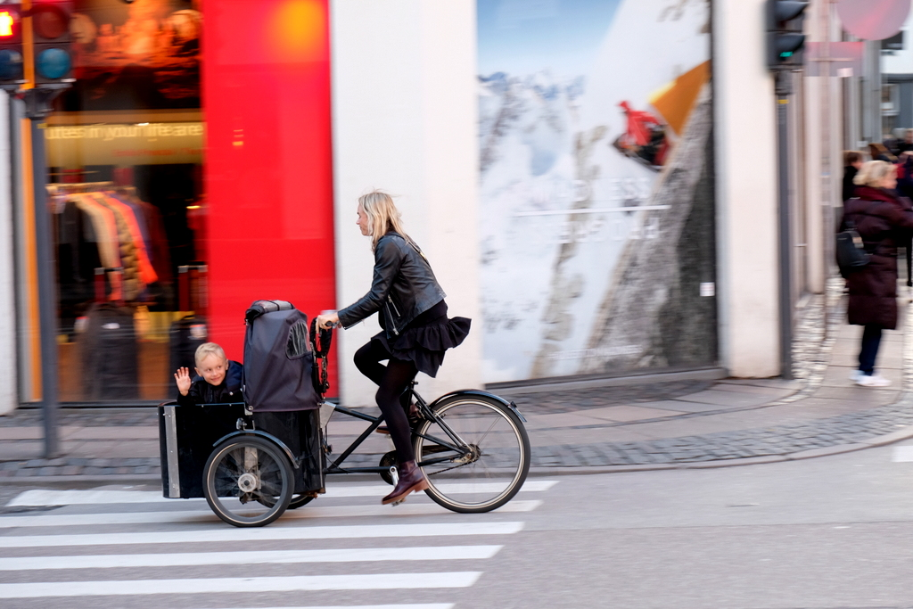 Rad fahren ist in Dänemark weit verbreitet