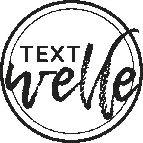 Nimm gerne Kontakt mit uns auf. Textwelle ist leicht an diesem Logo zu erkennen.
