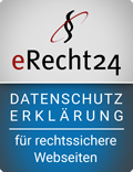 erecht24 siegel datenschutzerklaerung blau - Datenschutz