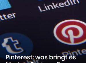 Pinterest ist die Suchmaschine für Deine Internetseite, Deinen Blog und Deine Ideen!