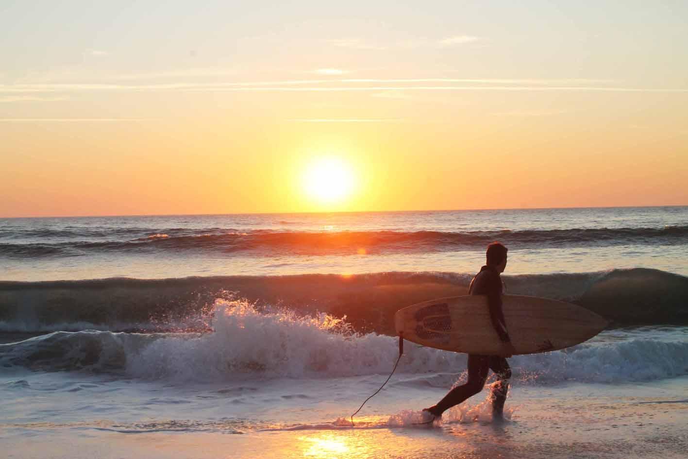 Surfen heißt eins sein mit der Natur, dem Meer und den Wellen