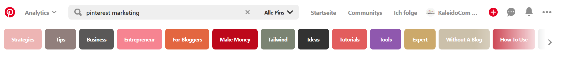 Pinterest hilft Dir Ideen zu finden