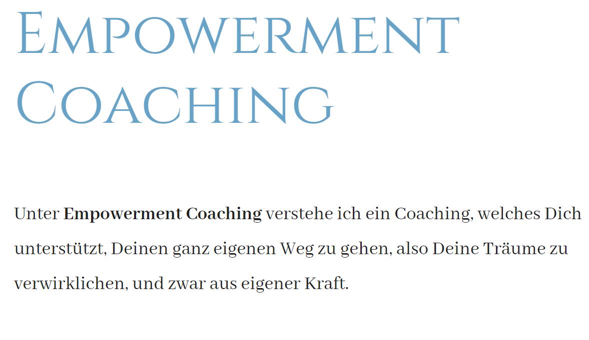 Empowerment Coaching ist Motivation und ein weisender Weg