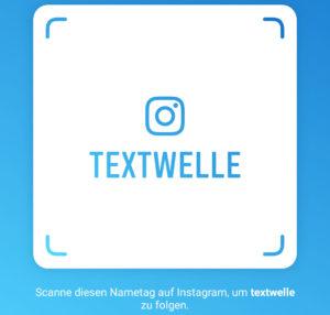 Textwelle, die Textagentur bei Instagram