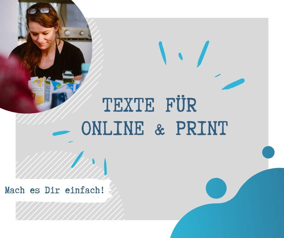 texte Online Print - Texte mit Persönlichkeit