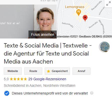 GmB 1 klein - Google my Business - einfach bei Google gefunden werden